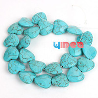 Turquoise gemstone faceted beads - 5 Strings Turquoise Beads Heart Faceted Shaped Natural Gemstone Beads Fit Necklace Craft DIY