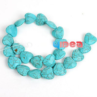 Turquoise gemstone faceted beads - FREE DHL SHIP Strings Turquoise Heart Faceted Natural Gemstone Beads Fit Necklace Craft DIY