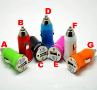 Wholesale 100pcs usb cigarette lighter car charger Auto Power Adapter Universal for iphone4 g mp3 mp4