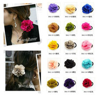 Wholesale Abar Mix Color New Fashion Lady Girl Rose Flower Clip Bow Headband Hair Band