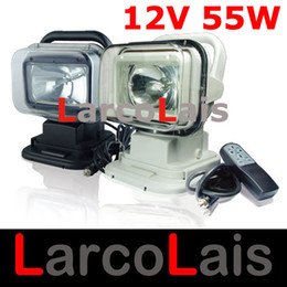 12V 55W Rotating Wireless Remote Control HID Xenon Search Work Light for Boat Car SUV Camping Hiking