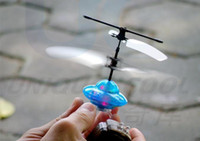 Wholesale UFO Mini Infrared Control Gyro RC Remote Control ch UFO Toy With Led Light Gift glow flying saucer
