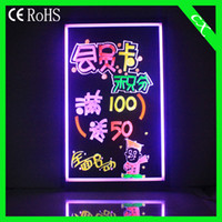 Wholesale 36 flashing advertising led Message board Acrylic led writing board LED NEON SIGN CX cm