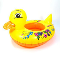 Wholesale Baby Swimming Inflatable Baby Swim Seat Kid s Swim Ring Yellow Duck Float Car Swim Pool Boat YQ6