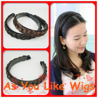 Wholesale 4 Colors Brand New Women Headband Braid Plaited Hair Band Sexy Fancy Party Daily Hairpiece Extension