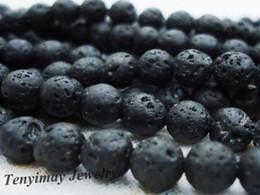 Wholesale 6mm volcano stone beads strands strand vesuvianite loose beads