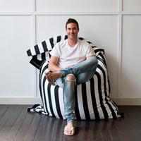 Wholesale cotton fabric strip design beanbag fashion bean bag chair