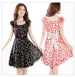 Wholesale Spring Plus Size floral Print Pastoral wind floral loose Dress