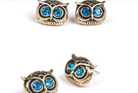 Wholesale New Fashion jewelry owl earring restore ancient style jewelry earring