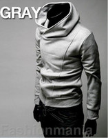 Wholesale 2012 monde Mens Casual Zip Hoodie Sweatshirt Sweats amp Hoodies M L XL XXL XL gray