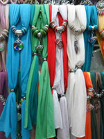 Wholesale Scarf jewelry Glass Pendant scarves Jewelry scarf Colors Pendant random Mix random not select