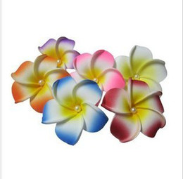 Wholesale hair accessories Hawaiian plumeria hairpin side chuck flower pearl heart