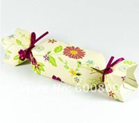 Wholesale 100pcs fresh Flower Wedding Christmas Favour Gift Table Boxes