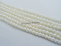 Wholesale 4mm freshwater pearls natural real pearls round pearls loose beads fit jewelry DIY