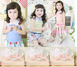 Wholesale 2012 summer girls bowknot ruffled Neck princess sun top vest sleeveless T shirt underwaist SZ45
