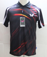 Wholesale butterfly Men s table tennis sportswear shirt BLACK
