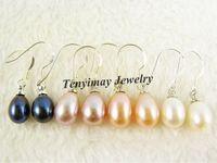 Wholesale Natural Freshwater Pearl Eardrops Pairs mm Classical Pearl Ear rings
