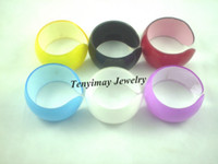 Wholesale Opened Acrylic Kid s Bangle Fashion Solid Candy Color Plastic Bangles