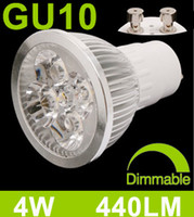 Wholesale Ultra Bright Energy Saving Dimmable Led Spotlight Bulbs GU10 W Warm White V V Free Ship DHL