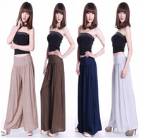 Wholesale 2014 new spring and summer brocade wide leg pants culottes leisure long pants A135
