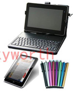 Wholesale 10 keyboard leather case usb for inch Android tablet PC Screen Protector Stylus Pen