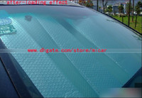 Wholesale Double layer Window Foils Windshield Sun Shade aluminum foil thickening car sun shade block front window sunshade sun visor