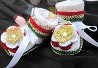 Crochet Shoes Girl Cotton 12pairs hand crochet wool toddler newborn reborn doll baby girl boy Mary Jane flower shoes