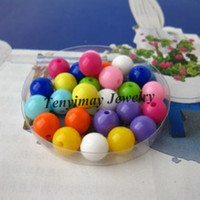 Wholesale Acrylic Loose Beads Mixed Color mm Round Plastic Beads For DIY