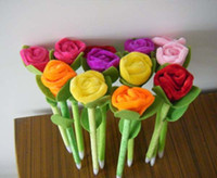 Wholesale High Quality Ballpoint Cute Plush pen school supplies roses pen Creative stationery