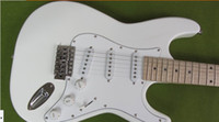 Wholesale best chinese guitar Musical Instruments White ST Electric Guitars