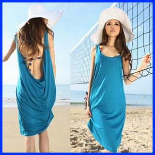 Sexy Summer Beach Dress Bohemian Dress Backless Women'S Dresses ...