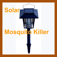 mosquito killer outdoor - Solar Mosquitoes Killer Lamp Lawn Bug Mosquito Pest Insect Killer Zapper Light Outdoor Garden