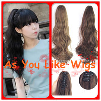 Wholesale 4 Colors New Style Short Ponytail Curly Women Sexy Party Cosplay Claw Clip on Hair Piece Extensions