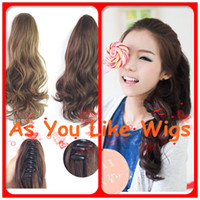 Wholesale 4 Colors New Style cm Short Curly Ladies Fancy Sexy Natural Party Ponytail Clip on Hair Extension
