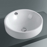 High Level Ceramic Round Bathroom Basin from Factory- Above C...