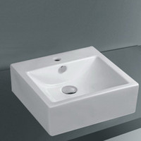 Outstanding Square Ceramic Bathroom Basin with Single Hole -...