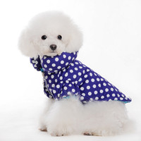 Cool Blue Pet Coat with White Wave Point