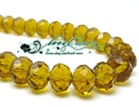 Wholesale Yellow Tea Crystal Loose Beads x6 mm DIY Bracelet ZB16