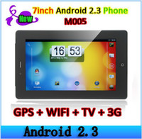 Wholesale M005 inch Capacitive Tablet PC Smart Phone Android OS G TV GPS WiFi Quad Band MTK6573 Phone