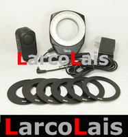 Wholesale 48 LED Macro Ring Flash Light Adpter for DSLR Camera Canon Video Close Up Photo Ring O Lights