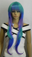 Wholesale 2012 Hot Selling Halloween Masquerade Costume Long curly and Straight Wig mixorder