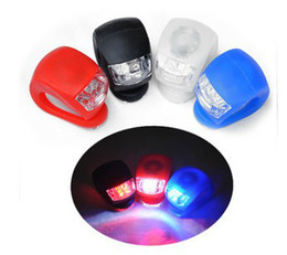 150pcs lot # 2LED Bicycle Rear Wheel Waterproof Headlight Silicone light Bike Light 2 LED Lamp Lamps
