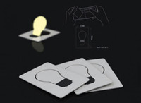 Wholesale NEW LED Pocket card Wallet Light Funny Size