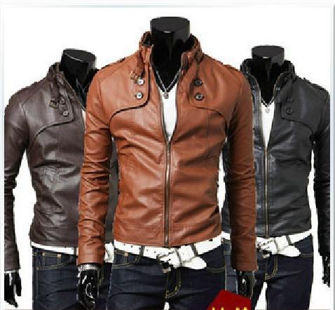 2017 Hot! New Men Coats Jackets Leather Jacket Loose Coat Male ...