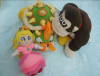 Wholesale set Super Mario Bros Donkey Kong quot and BOWSER quot and Prince quot Plush Doll Toy
