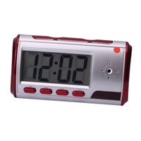 Wholesale USB1 Electronic Alarm Clock With Hidden Camera Red Ship From USA E03138
