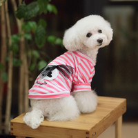 Pet Dog Stripe T- Shirt 100% Cotton Pet Princess Clothing