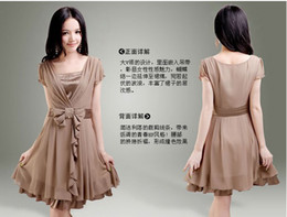 Wholesale 2012 Fashion New ladies Women Graceful Gentlewomanly Sleeve Chiffon Dress