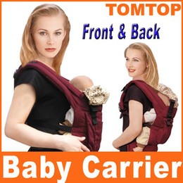 Wholesale Red blue for choice Ront amp Back Baby Carrier Infant Comfort Backpack Sling Wrap Harness free ship H8070