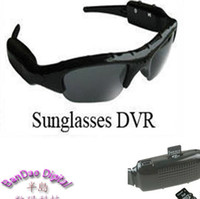 Wholesale hot sell Sunglasses mini DV Mobile Eyewear Recorder Spy Video Camera support TF hidden Sun glass DVR